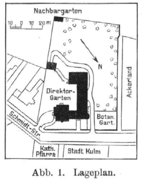 Lageplan Kościuszki 11 in Chełmno aus dem Jahr 1910