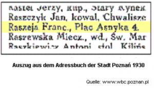 Adressbuch Poznaż 1930