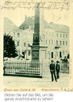 Kriegerdenkmal aus dem Jahr 1889 in Chełmno
