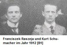 Franciszek Raszeja und Kurt Schumacher 1912