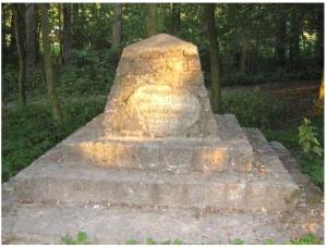 Schacht'schen Anlagen in Chełmno - 2008 - Gedenkstein für Rehbein und Schacht