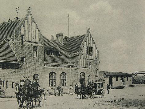 Culmer Bahnhof im frühen 20. Jahrhundert