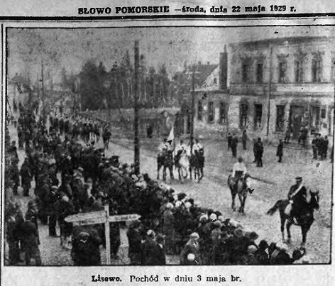 Verfassungstag in Lisewo – 3. Mai 1929