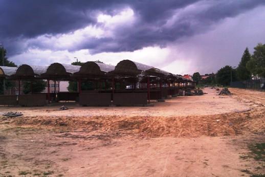 Neuer Wochenmarkt in der Bauphase