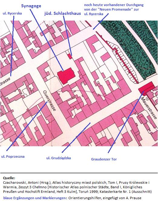 Standort der von den Deutschen 1939 zerstörten Synagoge in Chełmno
